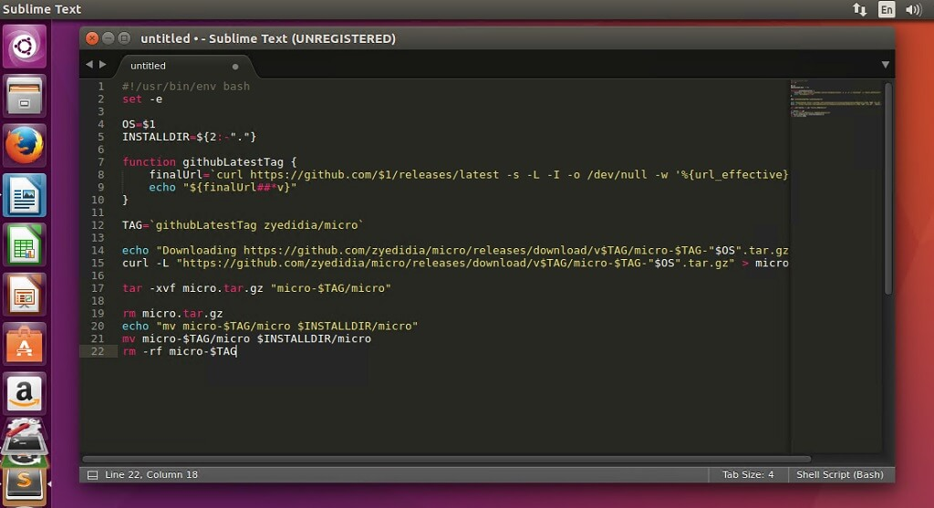 sublime text 3 editor